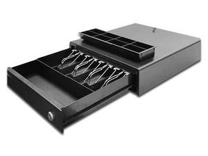 Cajón para Dinero Qian, 8 separadores para monedas y 4 para billetes. Color negro.