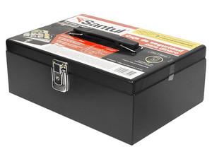 Cajón para dinero Santul 8401, con 7 compartimientos para billetes y monedas, acero de alta resistencia.