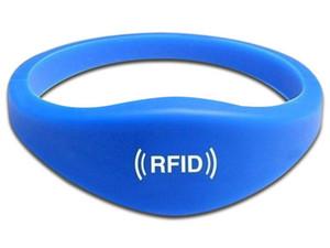Brazalete SAXXON BT-RW01 de silicona para control de acceso. Color Azul.