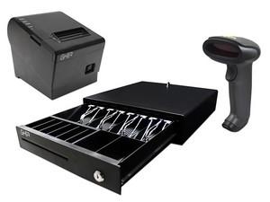 Kit Punto de Venta GHIA PAQ-560, incluye cajón de dinero, lector de código de barras y miniprinter térmica.