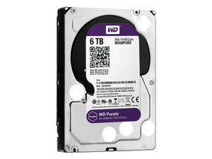 Disco Duro para Videovigilancia Western Digital Purple de 6 TB, IntelliPower RPM, 64MB, SATA III (6 Gb/s)