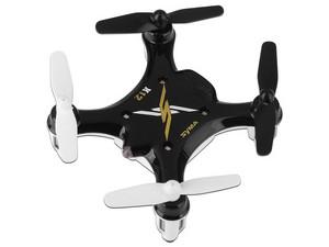 Drone Quadcopter SYMA X12S Nano, con batería recargable (hasta 8 min.), hasta 30 metros. Color negro.