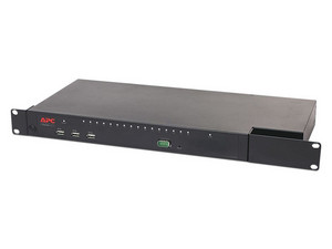 Switch KVM 2G de APC, digital/IP, 1 usuario remoto, 1 usuario local, 16 puertos con Virtual Media, 1U.