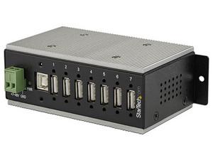Hub Concentrador StarTech HB20A7AME con 7 puertos USB 2.0, Protección de descargas de hasta 350 W y ESD.