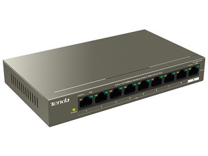Switch Tenda TEF1109P-8-63W con 8 puertos PoE, 1 x RJ-45 10/100 Mbps, No administrable.