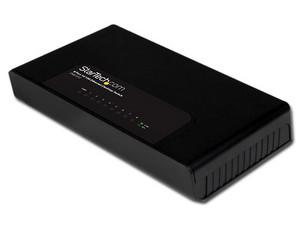 Switch Ethernet de 8 Puertos 10/100mbps, con montaje para la pared.