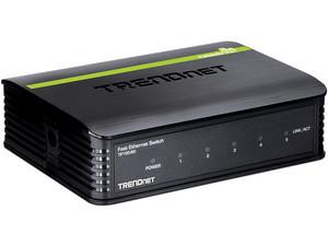 Mini Switch TRENDnet GREENnet TE100-S5 de 5 puertos a 10/100 Mbps.