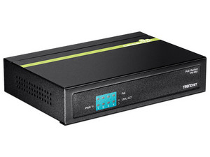 Switch TRENDnet TPE-S50 de 5 puertos 10/100Mbps, PoE.
