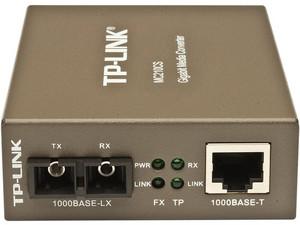 Convertidor de medios TP-Link MC210CS, conector de fibra SC a RJ-45, hasta 15Km.