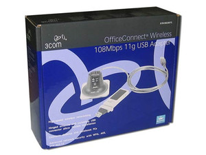 Adaptador 3Com USB OfficeConnect inalámbrico 108 Mbps 11g