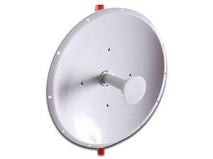Antena Parabólica Netpoint NP1-SMA, hasta 6.2GHz, 30 dBi, Polarización Dual. Color Blanco.