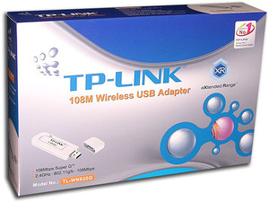 Adaptador TP-LINK USB Wireless 108Mbps Super G, 2.4GHz, 802.11g/b