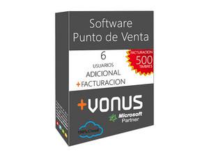 Seis Usuarios Adicional Vonus Software y Modulo de Facturacion (1 año).