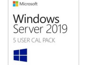 Windows Server 2019 ROK, 5 Users CALs, para versión Standard o Datacenter (Exclusivo para equipos Nuevos DELL).