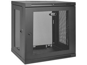 Gabinete SmartRack de 12U de bajo perfil y ajuste de profundidad a la altura del interruptor para instalación en pared