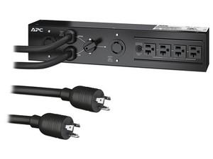 PDU multicontacto APC SBP3000RM Bypass para mantenimiento con 4 contactos NEMA 5-20R y 1 L5-30R.