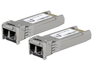 Módulo Transceptor Ubiquiti U Fiber SFP+ modo simple LC, hasta 10 km, 1310 nm. (2 Unidades)