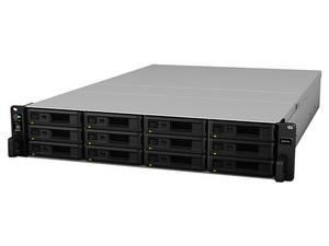 Servidor NAS Synology RS3618XS con 12 bahías para discos duros (no incluidos), 4 Puertos Gigabit, 8GB DDR4, hasta 144TB.