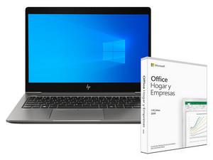 WorkStation ZBook 14U G6: Procesador Intel Core i5 8265U (hasta 3.9 GHz), Memoria de 8GB DDR4, SSD de 256 GB, Video Gráficos Intel UHD, Windows 10 Pro (64 bits), Incluye Microsoft Office Hogar y Empresas 2019.