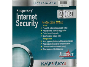 Kaspersky Internet Security 2009 OEM Licencia por un año (no incluye CD)