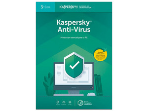 Kaspersky Anti-Virus 2019, 3 PCs, 1 Año.