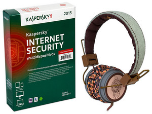 Kaspersky Internet Security Multidispositivos 2015, 1 Dispositivo, 1 Año, Audífonos Acteck de Regalo.