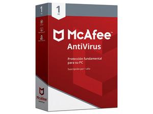 Antivirus McAfee MAB00LNR1RAA para 1 Dispositivo, 1 Año.