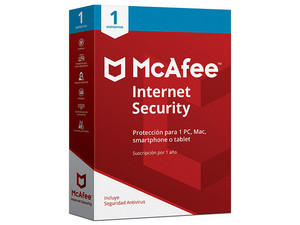 Antivirus McAfee Internet Security (1 Dispositivo, 1 año).
