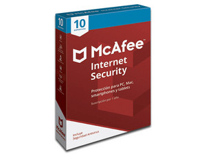 McAfee Antivirus Internet Security, 10 Dispositivos, 1 Año