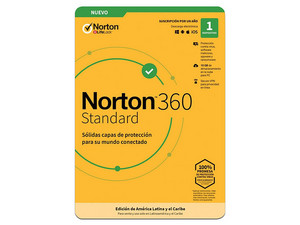 Norton 360 Anitivirus, 1 Dispositivo, 1 Año.