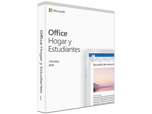 Microsoft Office Home and Student 2019, versión español.