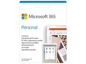 Microsoft Office 365 Personal (1 Año de suscripción para un 1 Usuario con 3 Dispositivos + 1TB en One Drive). Descarga ESD.