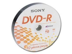 Paquete de 10 DVD-R SONY de 4.7 Gb, 16x.
