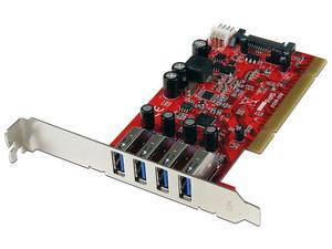 Tarjeta Controladora StarTech con 4 Puertos USB 3.0, PCI.