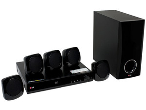 Home Theater LG, Audio 5.1, Dolby Digital, Reproductor de DVD, HDMI, USB.