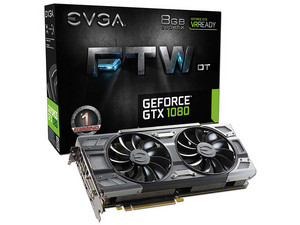 Tarjeta de Video NVIDIA GeForce GTX 1080 EVGA FTW DT GAMING, 8GB GDDR5X, 1xHDMI, 1xDVI, 3xDisplayPort, PCI Express x16 3.0