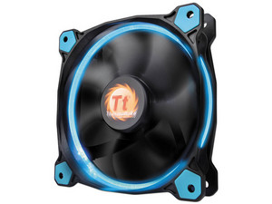 Ventilador Thermaltake Riing 12, 120 mm con LED Azul, 1500 RPM, 24.6 dB-A.