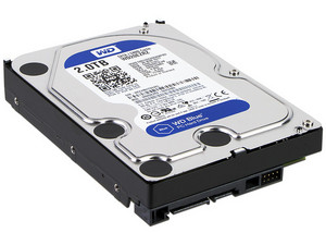 Disco Duro Western Digital Blue de 2TB, 5400 RPM, 64 MB Caché, SATA III (6 Gb/s).