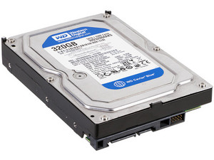 Disco Duro Western Digital Blue de 320 GB, 7200 RPM, 16MB Buffer, SATA II (3Gb/s), New Pull.