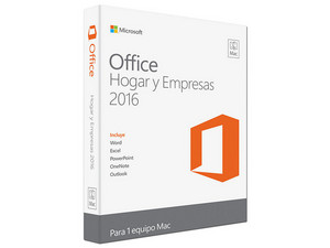 Microsoft Office Hogar y Empresas 2016 para Mac, 1 equipo.