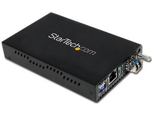 Convertidor de medios Gigabit Ethernet 1Gbps a Fibra Monomodo conector LC, hasta 40km.