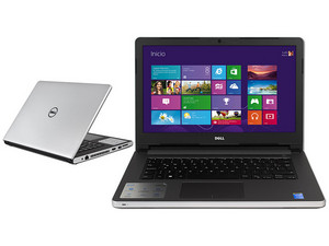 """Laptop DELL INSPIRON 14-5458 : Procesador Intel Core i5-5200U (hasta 2.7  GHz), Memoria de 4 GB DDR3L, D. D. de 1TB, Pantalla LED de 14"""", Video Intel  HD ..."""