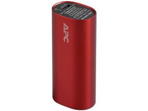 Batería Portátil recargable APC Power bank de 3,000 mAh para Smartphones y Tablets. Color Rojo.
