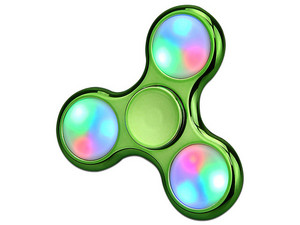 Hand Spinner con Led Color Verde.