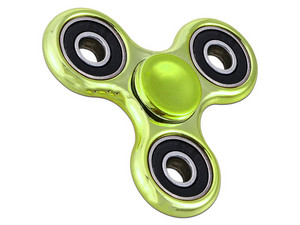 Fidget Spinner Cromado. Color Verde.