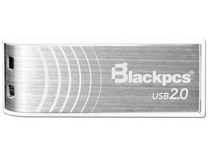 Unidad flash 2.0 Blackpcs MU2103 de 8GB. Color Plata.