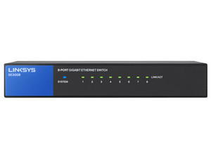 Switch Gigabit LINKSYS SE3008 de 8 Puertos, 10/100/1000 Mbps