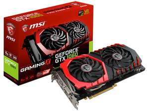 Tarjeta de Video NVIDIA MSI GeForce GTX 1060, 6GB GDDR5, 1xHDMI, 1xDVI, 3xDisplayPort, PCI Express x16 3.0