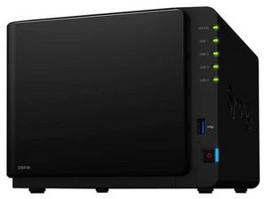 """NAS SYNOLOGY DS416 con 4 Bahías para Discos de 3.5"""", 2 Puerto Gigabit, 1 GB DDR3, hasta 40 TB (no Incluye discos duros)."""