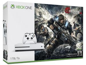 Consola Xbox One S de 1 TB con juego Gears of War 4 . Color Blanco